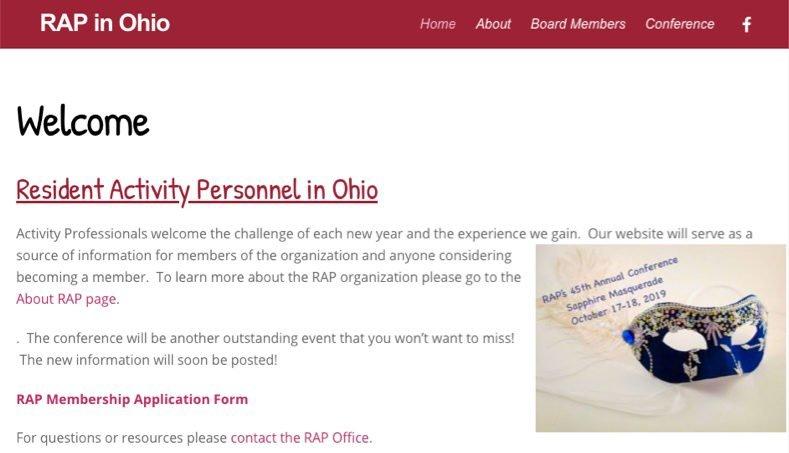 Professional Organization Website